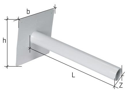 Sika Notüberlauf Speier S-PVC Sikaplan 250x250 mm DN63 mm gerade Hellgrau