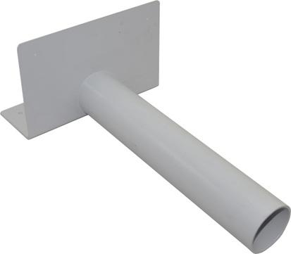 Sika Speier abgewinkelt DN125 Sikaplan 285x110/180 mm Rohrlänge 485 mm