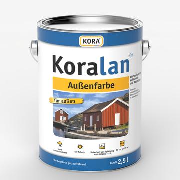 Obermeier Koralan Außenfarbe 2,5 l RAL 7016 Anthrazitgrau