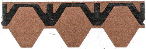 Isola Bitumen Schindel Skraa Wabe 2,95 m2 im Paket 115,05 m2 je Palette Ziegelrot