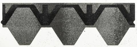 Isola Bitumenschindel Skraa neu Struktur Wabe 2,95m2 115,05m2 Schiefergrau