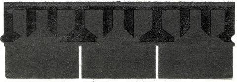 Isola Bitumen Schindel Rett Rechteck 3,15 m2 im Paket 122,85 m2 je Palette Schwarz