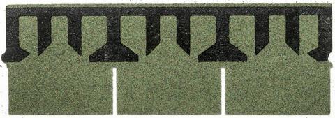 Isola Bitumen Schindel Rett Rechteck 3,15 m2 im Paket 122,85 m2 je Palette Kiefergrün