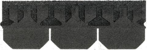 Isola Bitumen Schindel Kuttet Trapez 3,15 m2 im Paket 122,85 m2 je Palette Schwarz