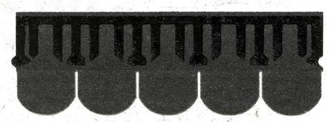 Isola Bitumen Schindel Biber 3,15 m2 im Paket 122,85 m2 je Palette Schwarz
