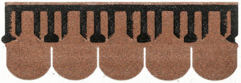 Isola Bitumen Schindel Biber 3,15 m2 im Paket 122,85 m2 je Palette Ziegelrot