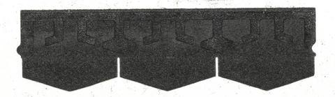 Isola Bitumen Schindel Karat Dreieck 2,53 m2 im Paket 98,67 m2 je Palette Schwarz
