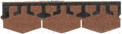 Isola Bitumen Schindel Karat Dreieck 2,53 m2 im Paket 98,67 m2 je Palette Ziegelrot