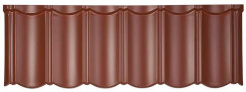 Isola Powertekk Exclusive Dachplatte 1198x418 mm Mattterracotta