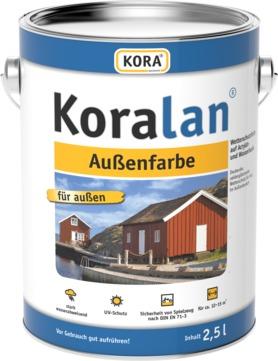 Obermeier Koralan Außenfarbe 2,5 l RAL 9002 Grauweiß