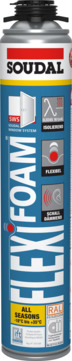 Soudal Flexifoam 750 ml B2 Profi-Pistolenschaum Blau