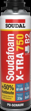Soudal Soudafoam X-TRA750 B2 500 ml 12 Stück Pistole Grau