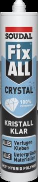Soudal Fix All Crystal 290 ml 1-K-Hybrid-Polymer Kleb- und Dichtstoff Kristallklar