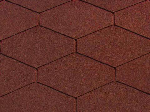 Börner Deco Bitumenschindel Dreieck PM Dachschindel Rot