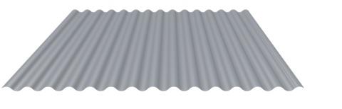 MAAS Wellprofil Alu 18-76/0,80 mm RAL 9006 7,00x1,10 m Folie Weißalu