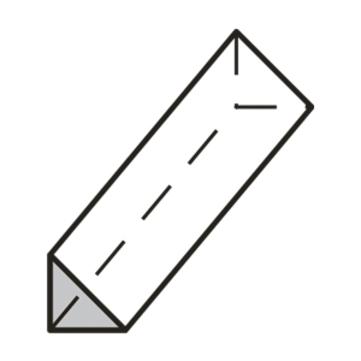 Brohlburg DAA dm EPS 50x 50x1000 mm Keil auf Styropor unkaschiert WLS 040
