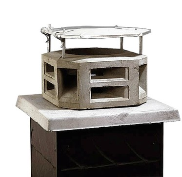 Raab Schornsteinaufsatz leicht 25x25 cm Außenmaß = 40x40 cm Typ 4 einlagiger Edelstahldeckel Edelstahl V2A
