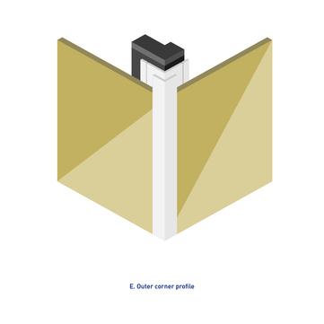 Rockpanel Eckprofil 8x3055 mm Rockpanel mit Schnittkantenüberdeckung Glatt