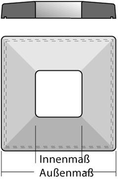 Raab Schornsteinabdeckplatte 20x20 cm Außenmaß = 75x75 cm mit Wassernase Leichtbeton
