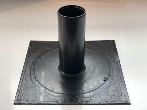 KALA Ablauf 50x50cm Durchmesser 125mm DN125 mit Bitumen-Anschluss Flansch Bitumen