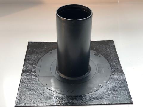 KALA Ablauf 50x50cm Durchmesser 160mm DN150 mit Bitumen-Anschluss Flansch Bitumen