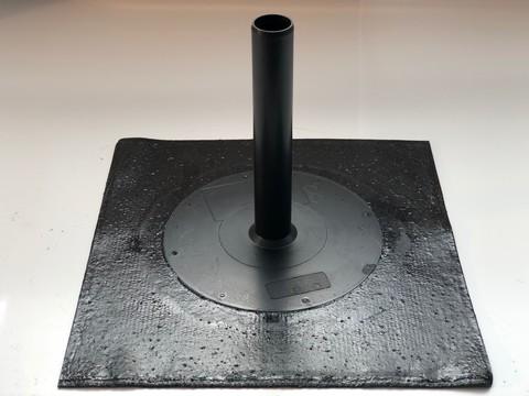 KALA Ablauf 50x50cm Durchmesser 50mm DN50 mit Bitumen-Anschluss Flansch Bitumen