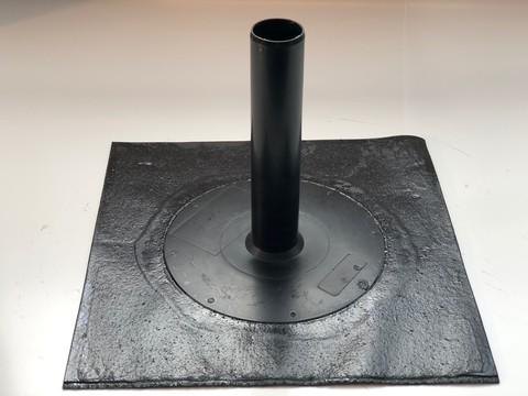 KALA Ablauf 50x50cm Durchmesser 63mm mit Bitumen-Anschluss Flansch Bitumen