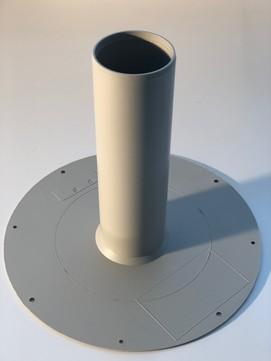 KALA Ablauf PP DN 95 Durchmesser 95mm Teller Durchmesser 380mm, Rohrlänge 320mm