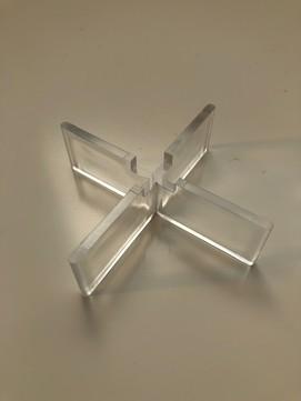 KALA Fugenkreuz 3mm 4-flüglig transparent Transparent