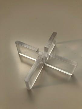 KALA Fugenkreuz 5mm 4-flüglig transparent Transparent