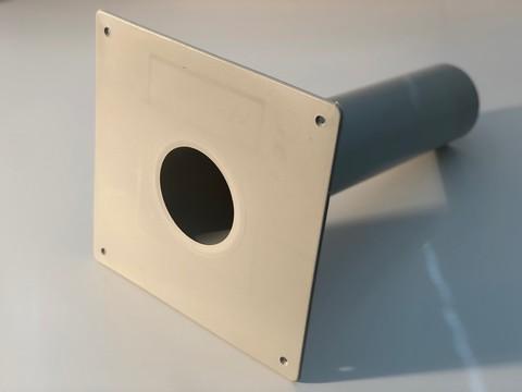 KALA Notüberlauf PVC 490mm DN100 Durchmesser 110mm
