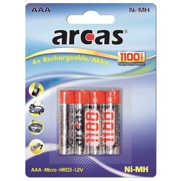 Goeke Intermedia Akku Micro AAA 1,2 Volt Arcas 4 Stück 1100 mAh Blister