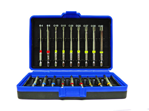 RES Langbitbox 75mm 18tlg. Schlitz,TX,PZ,PH,Inbus