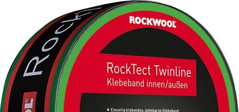Rockwool Hochbau RockTect Klebeband Twinline 60 mm innen und außen, Dampfbremse UDB, OSB