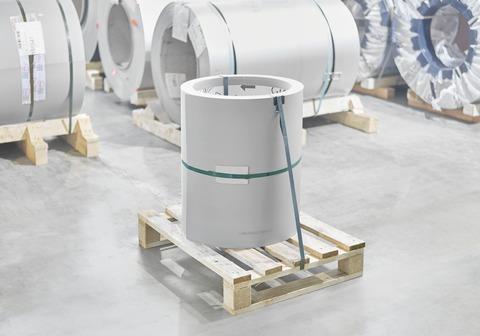 Kalzip FalZinc 0,70/ 600 mm 100 kg mit Schutzfolie 100 kg/Coil Alu vorbewittert