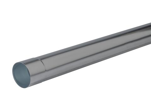 NedZink 6-teilige Fallrohr rund 0,70 mm 3,0 m Nova geschweißt Titanzink vorbewittert