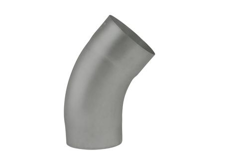 NedZink 8-teilige Fallrohrbogen halbrund 40 mm 80 mm Nova Titanzink vorbewittert