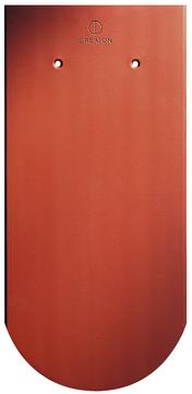 CREATON Biber Rundschnitt Klassik ganz 18x38cm Roggden Naturrot