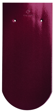 CREATON Biber Rundschnitt Klassik ganz 18x38cm Roggden Finesse Weinrot glasiert