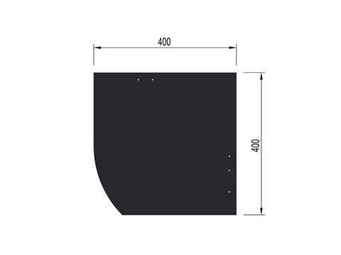 Eternit Dachplatte 40x40 cm Deutsche Deckung 6-12 glatt Quadrat mit Bogenschnitt links Blauschwarz