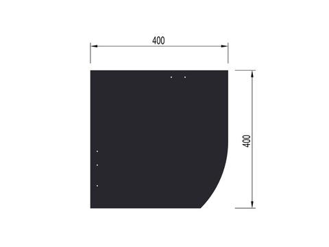 Eternit Dachplatte 40x40 cm Deutsche Deckung 6-12 glatt Quadrat mit Bogenschnitt rechts Blauschwarz