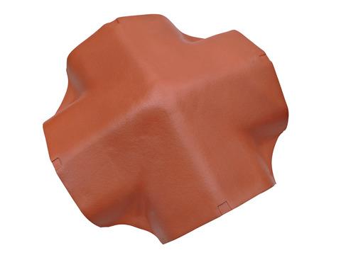 Braas Linienfirst Karstädt Zeltdachglocke matt 4 Abgänge 15-45 Grad Mangananthrazit engobiert