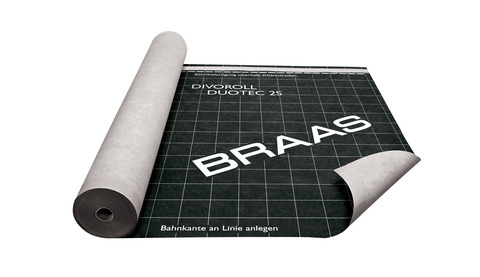Braas Unterdeckbahn Divoroll Duotec 2S 1,5x 50 m UDB-A USB-A Doppel-Klebezone Grau