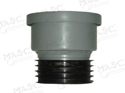 Masc HT-Übergangsrohr DN125 mm für Regenfallrohr 120 mm, senkrechter Einbau Grau