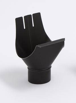 Umicore 6-teilige Rinneneinhangstutzen rund 333/100 mm Titanzink Anthra