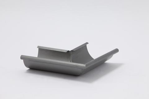 Umicore 6-teilige Rinnenaußenwinkel halbrund 0,70/333 mm gelötet Titanzink Quartz vorbewittert