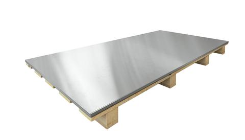 Umicore Blech 0,70 mm 1000x3000 mm 1000 kg blank Stempel außen Titanzink