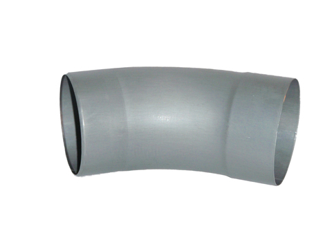 Umicore 6-teiliger Fallrohrbogen 40 Grad 100 mm mit mit Einzug Zink Quartz vorbewittert