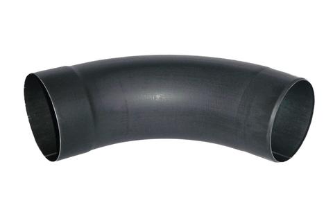 Umicore 6-teiliger Fallrohrbogen 72 Grad 100 mm mit mit Einzug Zink Anthra