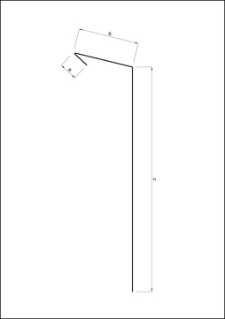 Umicore Traufstreifen 167/0,7/50 mm 3 m mit Falz blank 105 Grad 15 glatt Titanzink